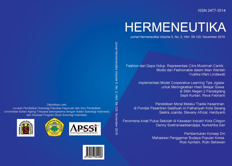 Hermeneutika : Jurnal Hermeneutika Vol 5, No 2 (2019)